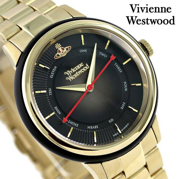 【エントリーだけでポイント3倍 27日9:59まで】 ヴィヴィアン 時計 レディース ポルトベッロ 36mm VV158BKGD Vivienne Westwood ブラック 腕時計
