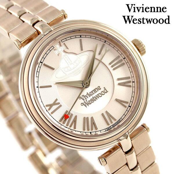 ヴィヴィアン 時計 レディース ファリンドン 34mm VV168NUNU Vivienne Westwood ローズゴールド 腕時計【あす楽対応】