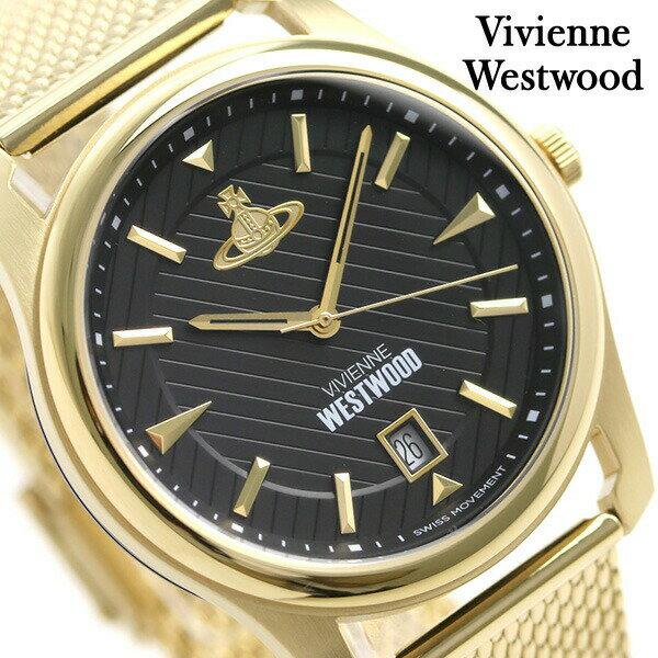 【当店なら!さらにポイント+4倍!21日1時59分まで】 ヴィヴィアン 時計 メンズ 腕時計 VV185BKGD Vivienne Westwood ブラック×ゴールド