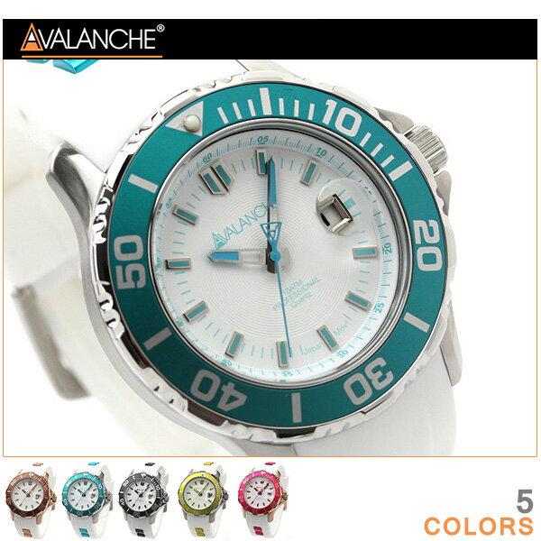 アバランチ 腕時計 デイト ハイドロゲン ラバーベルト AVALANCHE AV-1022S 時計