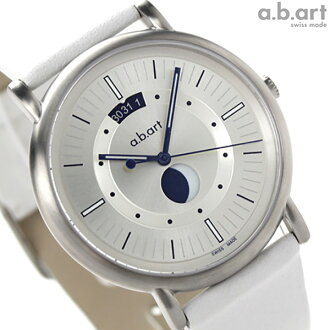 A B art KLD series moon phase KLD201 a.b.art men watch quartz silver X white