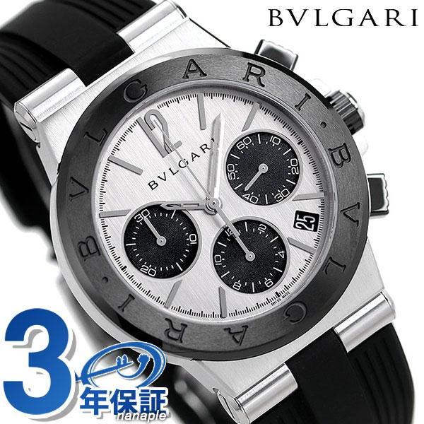 【エントリーで最大14倍 18日10時〜】ブルガリ 時計 メンズ 時計 クロノグラフ BVLGARI ディアゴノ DG37C6SCVDCH 腕時計