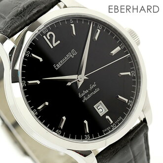 Eberhard extra Fort watch mens automatic winding date black leather belt EBERHARD 41029.2