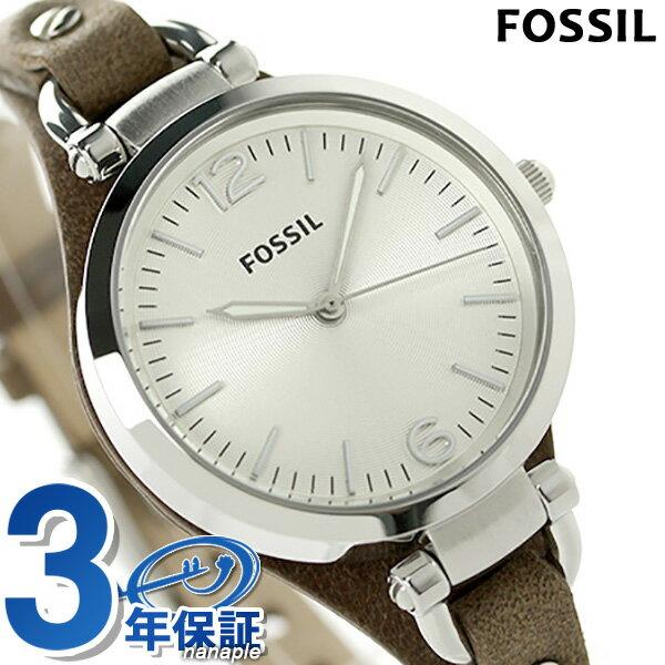 25日当店なら!ポイント最大26倍 FOSSIL フォッシル 腕時計 レディース ジョージア ES3060 ホワイト×タン 【あす楽対応】