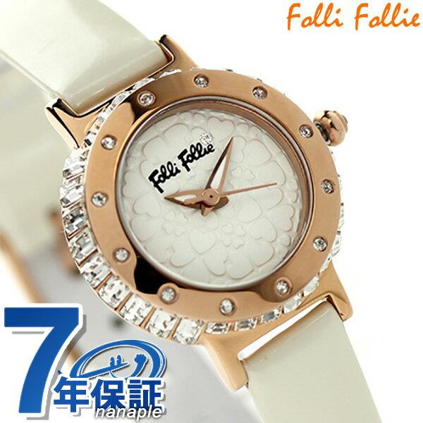 フォリフォリ ハート フォー ハート レディース 腕時計 WF13B067SPW-WH Folli Follie クオーツ ホワイト 時計