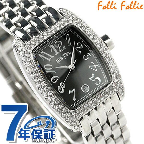 フォリフォリ 腕時計 レディース ジルコニア ブラック Folli Follie WF5T081BDK