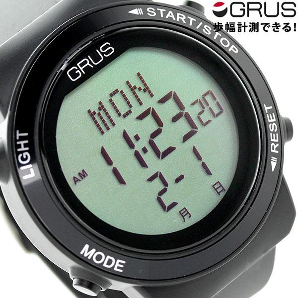 グルス ウォーキングウォッチ 腕時計 GRS001-02 GRUS オールブラック 時計