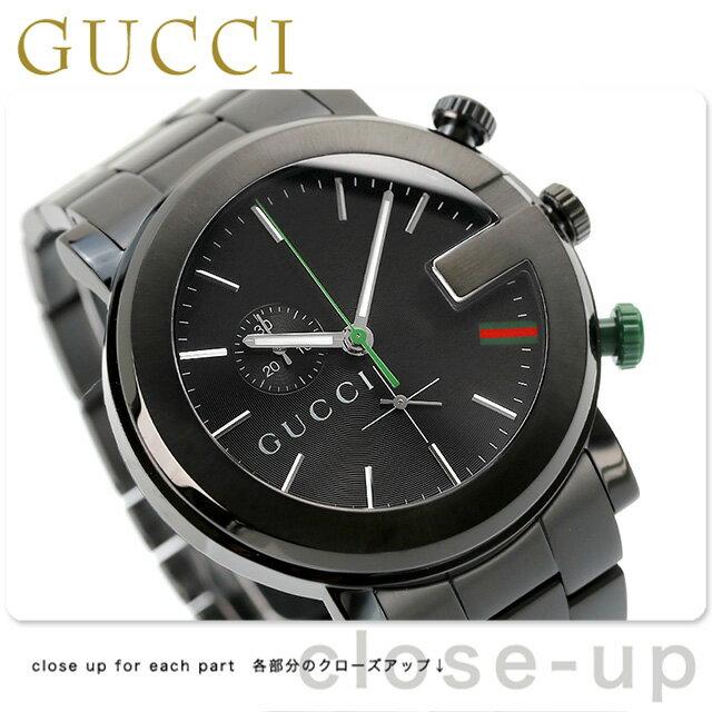 グッチ 時計 メンズ GUCCI 腕時計 G-CHRONO G-クロノ オールブラック YA101331