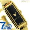 古驰G-线石英女士手表YA109526 GUCCI黑色×黄金