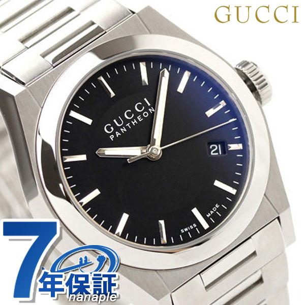 グッチ GUCCI パンテオン 時計 メンズ ブラック YA115423【あす楽対応】