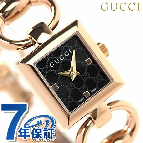 グッチ 時計 レディース GUCCI 腕時計 トルナブォーニ ブラック × ピンクゴールド YA120521