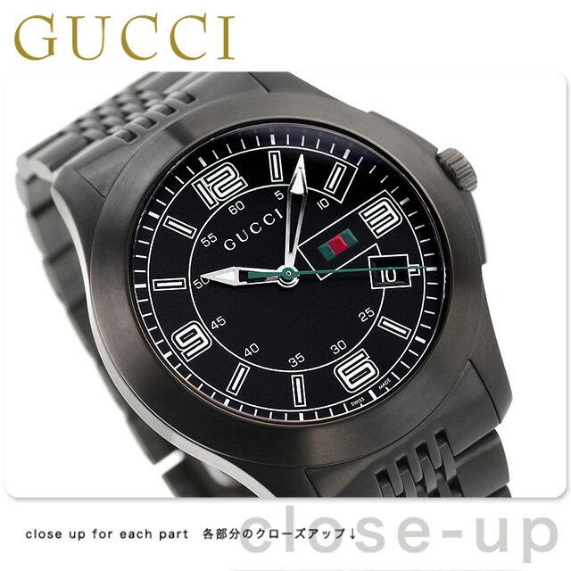 【25日なら全品5倍以上!店内ポイント最大46倍】 グッチ 時計 メンズ Gタイムレス オールブラック GUCCI YA126202 腕時計【あす楽対応】
