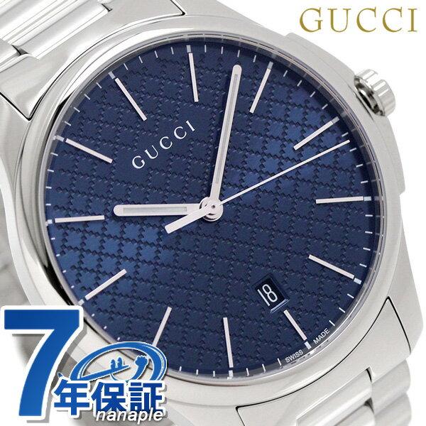 グッチ 時計 メンズ GUCCI 腕時計 Gタイムレス スリム クオーツ YA126316 ブルー【あす楽対応】