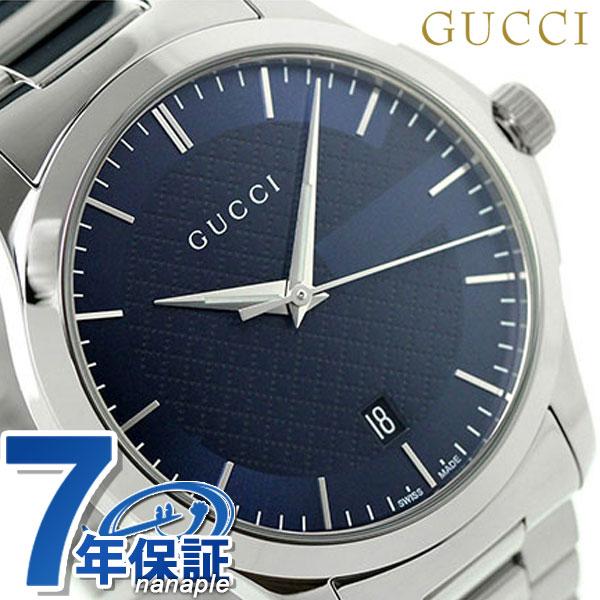 グッチ 時計 メンズ GUCCI 腕時計 G-タイムレス クオーツ YA126440 ネイビー【あす楽対応】