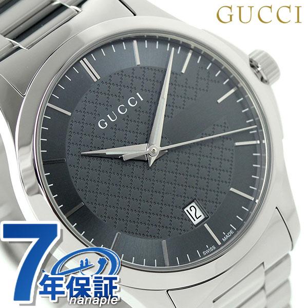 グッチ 時計 メンズ GUCCI 腕時計 G-タイムレス クオーツ YA126441 グレー