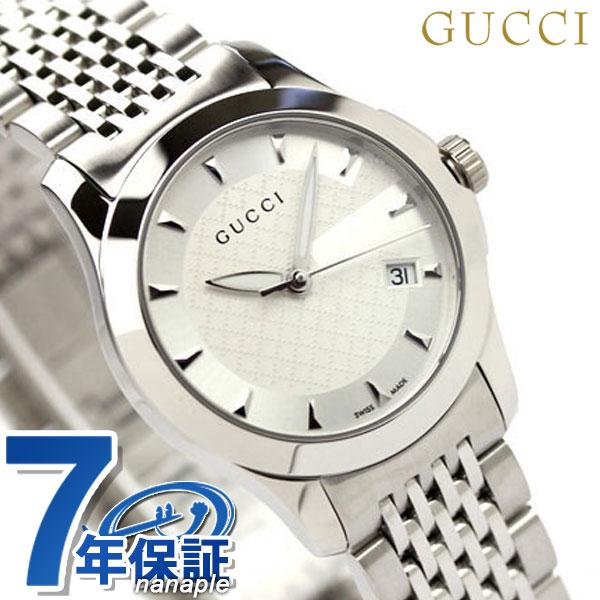 グッチ 時計 レディース GUCCI 腕時計 Gタイムレス ホワイト YA126501【あす楽対応】