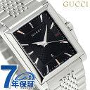 グッチ Gタイムレス レクタングル クオーツ メンズ 腕時計 YA138401 GUCCI ブラック 時計