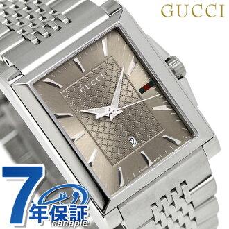 8d216936ea7 nanaple  Gucci clock men GUCCI watch G タイムレスレクタングルクオーツ YA138402 brown