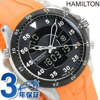 H64554431汉密尔顿HAMILTON黄褐色飞行员航班计时器