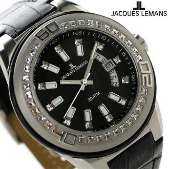 잭 르망 마이애미 20 기압 방수 맨즈 손목시계 1-1776 A JACQUES LEMANS 블랙