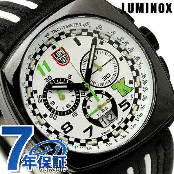 ルミノックス 腕時計 LUMINOX フィールド スポーツ トニー カナーン シリーズ クロノグラフ 1146 ホワイト×ブラックレザー