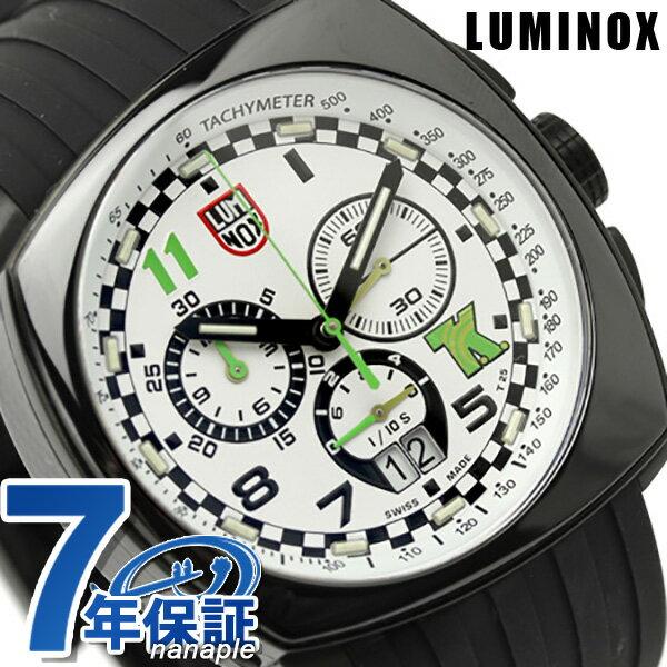 ルミノックス 腕時計 LUMINOX フィールド スポーツ トニー カナーン シリーズ クロノグラフ 1147 ホワイト×ブラックラバー 時計