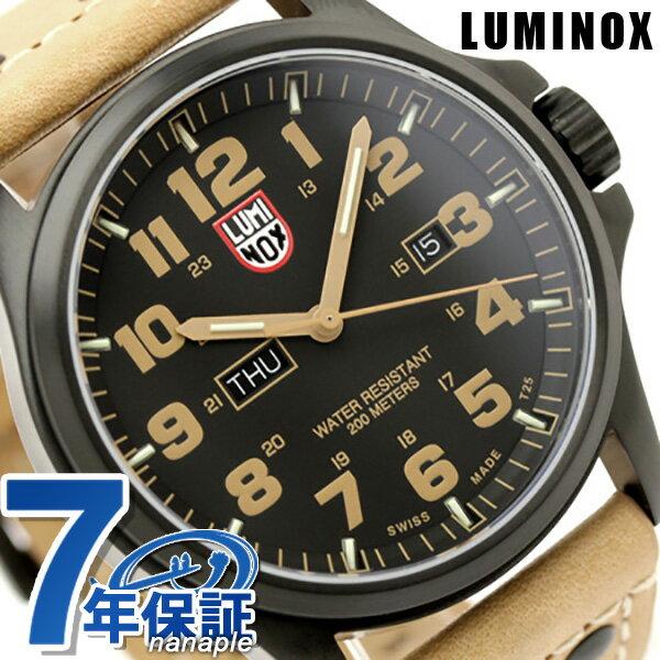 ルミノックス 腕時計 LUMINOX アタカマ フィールド デイデイト 1925 ブラック×ライトブラウンレザー