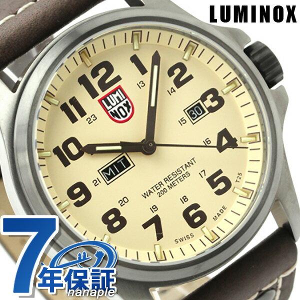 ルミノックス 腕時計 LUMINOX フィールド アタカマ メンズ デイデイト レザーベルト 1927 クリーム×ブラウン