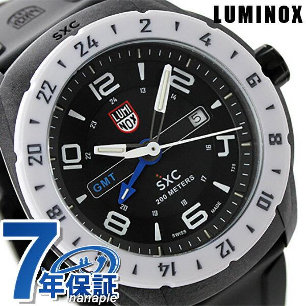 ルミノックス 腕時計 LUMINOX SXC ポリカーボネートカーボン GMT 5027 メンズ クオーツ ブラック 時計