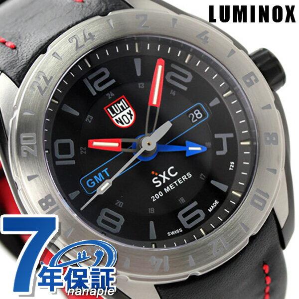 ルミノックス 腕時計 LUMINOX SXC スチール GMT 5127 メンズ クオーツ ブラック×レッド 時計