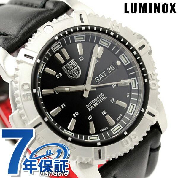 ルミノックス 腕時計 LUMINOX モダン マリナー オートマチック デイデイト レザーベルト 6501 ブラック