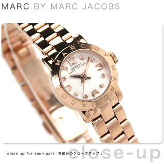 Mark by Mark Jacobs Amy Dinky MBM3227 MARC by MARC JACOBS Lady's clock quartz white X Rose gold
