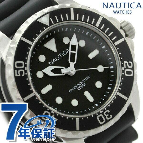 店内ポイント最大43倍!26日1時59分まで! ノーティカ 腕時計 NMX 650 ブラック ラバーベルト NAUTICA A18630G 時計【あす楽対応】