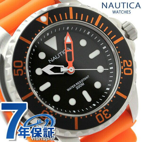 店内ポイント最大43倍!26日1時59分まで! ノーティカ 腕時計 NMX 650 ブラック×オレンジ ラバーベルト NAUTICA A18633G 時計【あす楽対応】
