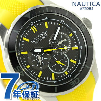 Nautica NST 10 quartz men watch NAI13520G NAUTICA black X yellow clock