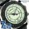 notika NSR 103潮圓規表手錶NAI21004G NAUTICA奶油×黑色
