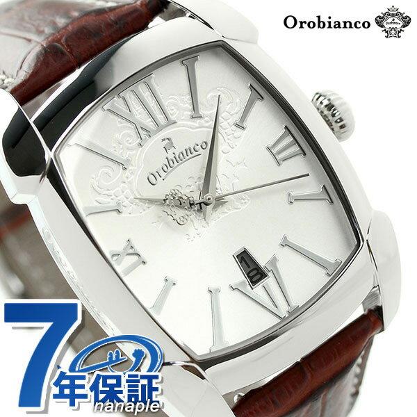【ウレタンベルト付き♪】オロビアンコ 時計 Orobianco メンズ 腕時計 レッタンゴラ 日本製 革ベルト OR-0012-1