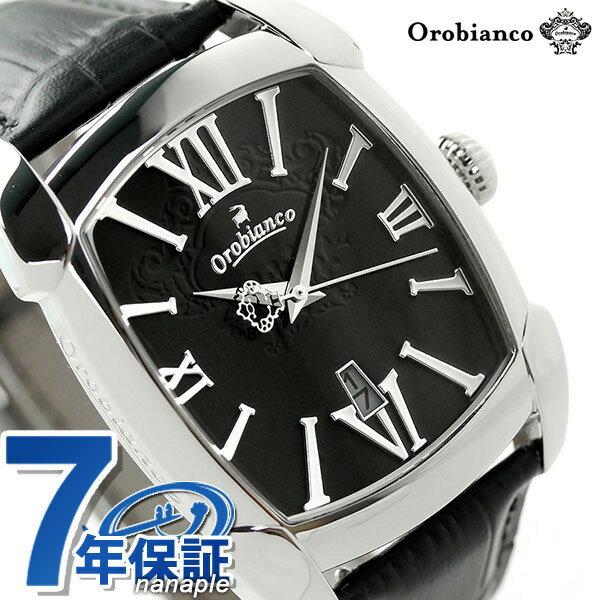 【ウレタンベルト付き♪】オロビアンコ 時計 Orobianco メンズ 腕時計 レッタンゴラ 日本製 革ベルト OR-0012-3