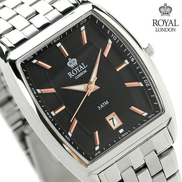 ロイヤルロンドン メンズ 腕時計 クオーツ 41186-02 ROYAL LONDON ブラック 時計