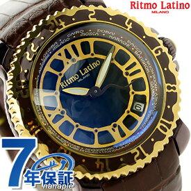 【今なら店内ポイント最大44倍】 リトモラティーノ ヴィアッジョ ローマン 自動巻き VA-77BR Ritmo Latino メンズ 腕時計 グレーブラック×ブラウン 時計