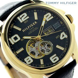 Tommy Hilfiger automatic open heart men's 1790908 TOMMY HILFIGER watch black / gold