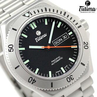 chuchimapashifikkudaibazu自動卷677-01德國製造TUTIMA人手錶黑色