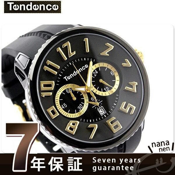 【当店なら!さらにポイント+4倍!21日1時59分まで】 テンデンス ガリバー ラウンド クロノグラフ TG460011 TENDENCE 腕時計 クオーツ ブラック 時計