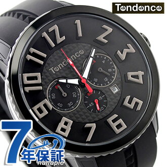 Ten den Suga river 47 chronograph quartz watch TY460014 TENDENCE black