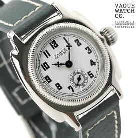 ヴァーグウォッチ 腕時計 レディース スモールセコンド クッサン ホワイト×グレー レザーベルト VAGUE WATCH Co. CO-S-002 時計