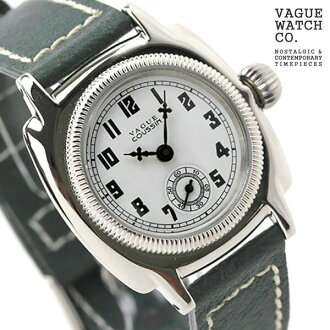 Vague watch watch ladies small second coussin white x gray leather belt VAGUE WATCH Co. CO-S-002