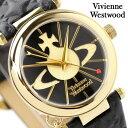 ヴィヴィアン・ウエストウッド 腕時計 レディース オーブ ブラック×ゴールド Vivienne Westwood VV006BKGD