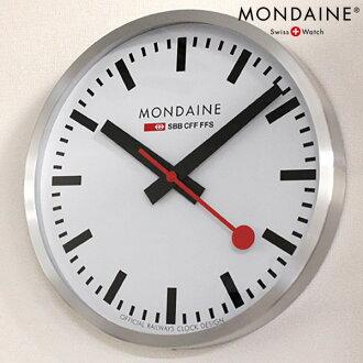 Mon Dean wall clock wall clock 400mm large size white X silver MONDAINE A995.CLOCK.16SBB