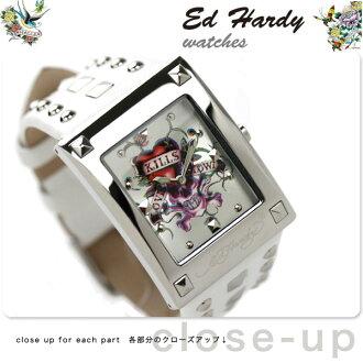 埃德·哈迪Ed-Hardy女士手表露西白LU-LK