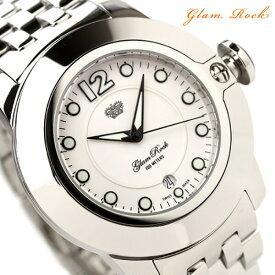 【20日は3万円割引クーポンにポイント最大 22倍】 グラムロック 時計 Glam Rock ソービィ SOBE Stainless Steel ホワイト×メタルベルト GR32051 腕時計【あす楽対応】